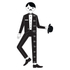 Design Letters Kids' Collection Measureman Wallsticker - Black: Image 1