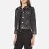 Marc Jacobs Women's Shrunken Denim Jacket - Black: Image 2