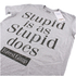 Forrest Gump Mens Stupid Is T-Shirt - Grijs Melange: Image 2