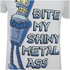 Futurama Mens Bender Bite T-Shirt - Wit: Image 5