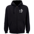 Rum Knuckles Mens Smokin Skull Zip Through Hoody - Zwart: Image 1