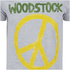 Woodstock Men's Stitch Peace Sign T-Shirt - Sport Grey: Image 3