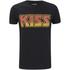 T-Shirt Homme Kiss Logo Vintage Flame - Noir: Image 1