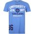 Varsity Team Players Men's University Athletic T-Shirt - Blue: Image 1