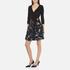 Diane von Furstenberg Women's Jewel Wrap Dress with Mikado Skirt - Black: Image 2