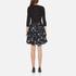 Diane von Furstenberg Women's Jewel Wrap Dress with Mikado Skirt - Black: Image 3