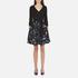 Diane von Furstenberg Women's Jewel Wrap Dress with Mikado Skirt - Black: Image 1