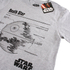 Star Wars Death Star Heren T-Shirt - Heather Grey: Image 2