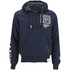 Crosshatch Men's Clarkwell Borg Lined Zip Through Hoody - Dress Blue: Image 1