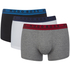 BOSS Hugo Boss Men's 3 Pack Boxers - White/Grey/Black: Image 1