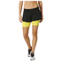 adidas Women's Gym Two-in-One Training Shorts - Black/Yellow: Image 1