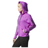 adidas Women's Full Zip Training Gym Hoody - Purple: Image 2