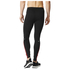 adidas Men's Response Long Running Tights - Black/Red: Image 3