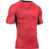 Under Armour Men's HeatGear Armour Printed Short Sleeve Compression T-Shirt - Red/Black: Image 1