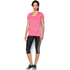 Under Armour Women's Twist Tech V Neck T-Shirt - Knock Out/Metallic Silver: Image 3