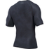 Under Armour Men's HeatGear Armour Printed Short Sleeve Compression T-Shirt - Black/Steel: Image 2