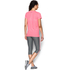 Under Armour Women's Favorite Big Logo Short Sleeve T-Shirt - Brilliance Pink: Image 5