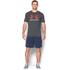 Under Armour Men's Sportstyle Logo T-Shirt - Carbon Heather/White/Dark Orange: Image 3
