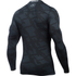 Under Armour Men's ColdGear Jacquard Crew Long Sleeve Shirt - Black/Steel: Image 2