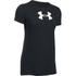 Under Armour Women's Favorite Big Logo Short Sleeve T-Shirt - Black/White: Image 1