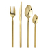 Broste Copenhagen Tvis Gold Cutlery Set: Image 2
