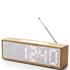 Lexon Titanium Alarm Clock - Bamboo: Image 1