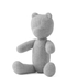 Menu Woollen Teddy Bear - Light Grey: Image 2