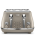 De'Longhi Elements Four Slice Toaster - Beige: Image 1
