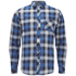 Tokyo Laundry Men's Carlsson Flannel Long Sleeve Shirt - True Blue: Image 1