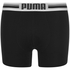 Puma Men's 2-Pack Placed Logo Boxers - Black: Image 2