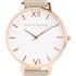 Olivia Burton Women's Big White Dial Watch - Grey/Rose Gold: Image 3