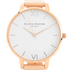 Olivia Burton Women's White Dial Big Dial Watch - Nude Peach & Rose Gold: Image 3