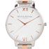 Olivia Burton Women's White Dial Bracelet Watch - Silver & Rose Gold: Image 3
