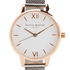 Olivia Burton Women's White Dial Mesh Watch - Rose Gold & Silver: Image 3