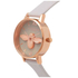 Olivia Burton Women's Moulded Bee Midi Dial Watch - Grey/Rose Gold: Image 6