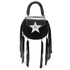 SALAR Women's Mimi Fringe Bag - Nero: Image 8