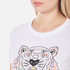 KENZO Women's Printed Tiger On Cotton Single Jersey T-Shirt - White: Image 5