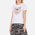 KENZO Women's Printed Tiger On Cotton Single Jersey T-Shirt - White: Image 2