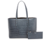 Aspinal of London Women's Regent Croc Tote Bag - Blue: Image 1