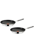 Jamie Oliver by Tefal Stainless Steel 2 Piece Frying Pan Set - 24cm & 28cm: Image 1