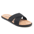 UGG Men's Ithan Cork Double Strap Leather Slide Sandals - Black: Image 3