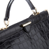 Aspinal of London Women's Large Frame Bag - Black Croc: Image 4