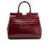 Aspinal of London Women's Large Snap Bag - Bordeaux Croc: Image 1