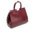 Aspinal of London Women's Large Snap Bag - Bordeaux Croc: Image 3