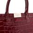 Aspinal of London Women's Large Snap Bag - Bordeaux Croc: Image 4