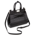 Aspinal of London Women's Small Snap Bag - Black Croc: Image 3