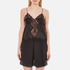 Alexander Wang Women's Button-Up Lace Trim Cami Top with Smocking Detail - Matrix: Image 1