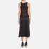 Alexander Wang Women's Midi Length Fluid Skirt Dress with Bustier Detail - Matrix: Image 2