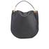 Diane von Furstenberg Women's Moon Calf Hair/Leather Large Hobo Bag - Black: Image 7