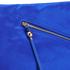 Diane von Furstenberg Women's Satin Asymmetric Foldover Clutch Bag - Cobalt: Image 4